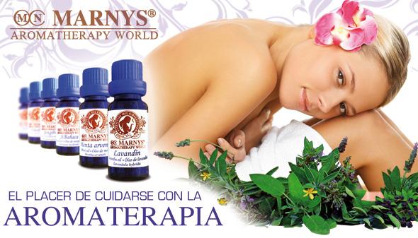 El Placer de cuidarse con la Aromaterapia MARNYS